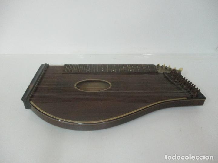 Instrumentos musicales: Antigua Citara - Madera Jacarandá, Latón y Hueso - Accesorios, Partituras y Caja - S. XIX - Foto 13 - 171480457