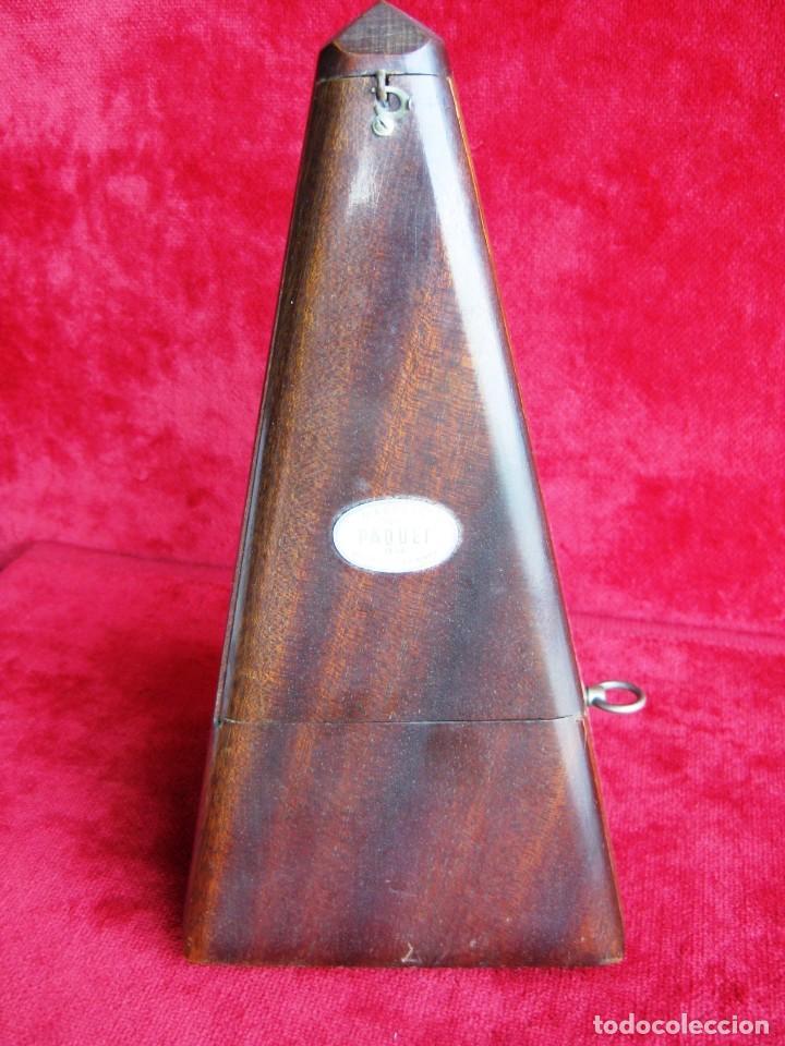 Instrumentos musicales: METRÓNOMO MAELZEL 1815-1846 MADE IN FRANCE MARCADO PAQUET, NUMERADO - Foto 2 - 172067660
