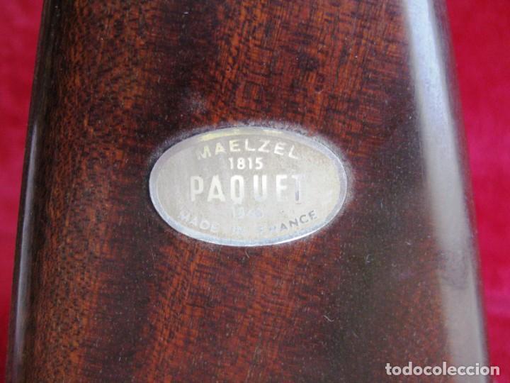 Instrumentos musicales: METRÓNOMO MAELZEL 1815-1846 MADE IN FRANCE MARCADO PAQUET, NUMERADO - Foto 3 - 172067660