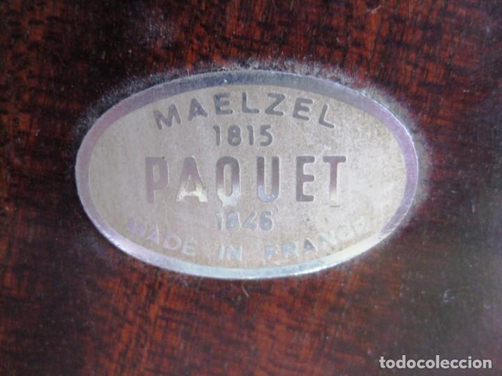 Instrumentos musicales: METRÓNOMO MAELZEL 1815-1846 MADE IN FRANCE MARCADO PAQUET, NUMERADO - Foto 4 - 172067660