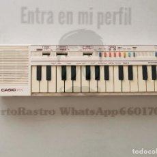 Instrumentos musicales: TECLADO PIANO CASIO PT-1 FUNCIONANDO VINTAGE . Lote 172118292