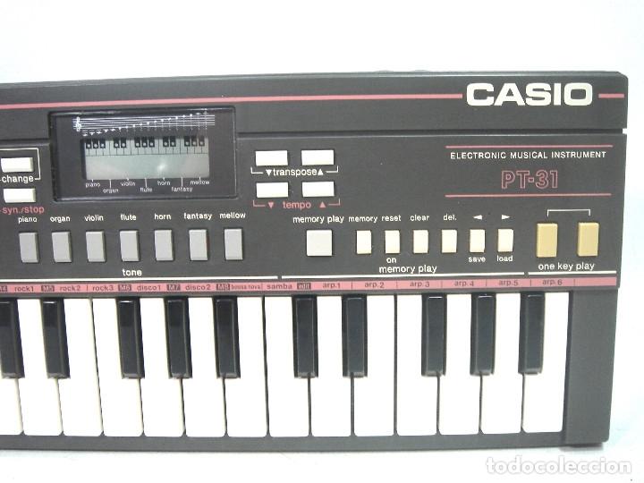 Instrumentos musicales: DIFICIL TECLADO ELECTRONICO - CASIO PT-31 ¡¡FUNCIONANDO¡¡ - JAPAN 80S -PT31 - PIANO ORGANO - Foto 2 - 172607409
