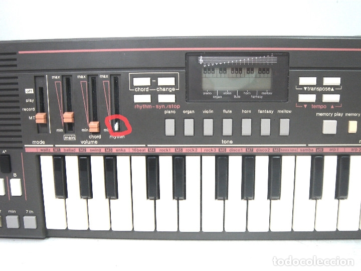 Instrumentos musicales: DIFICIL TECLADO ELECTRONICO - CASIO PT-31 ¡¡FUNCIONANDO¡¡ - JAPAN 80S -PT31 - PIANO ORGANO - Foto 3 - 172607409