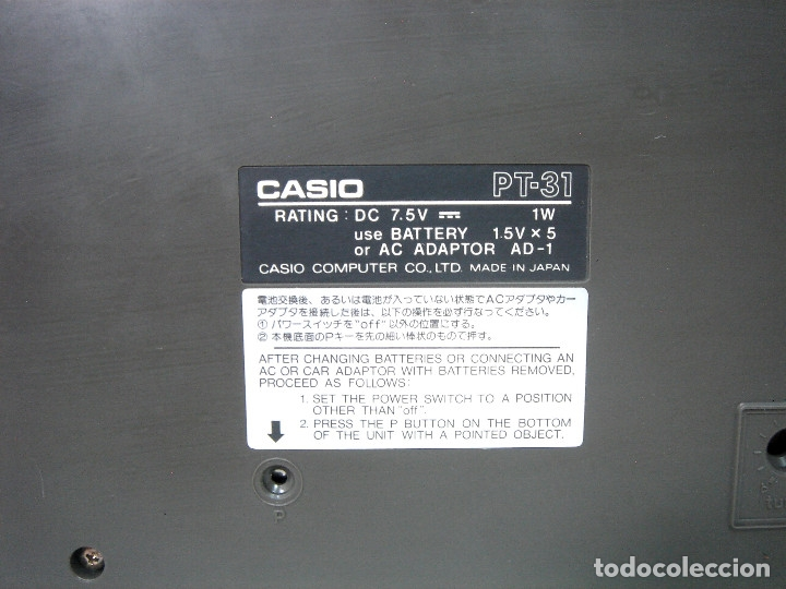 Instrumentos musicales: DIFICIL TECLADO ELECTRONICO - CASIO PT-31 ¡¡FUNCIONANDO¡¡ - JAPAN 80S -PT31 - PIANO ORGANO - Foto 9 - 172607409
