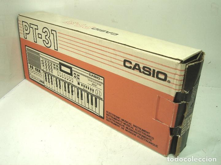 Instrumentos musicales: DIFICIL TECLADO ELECTRONICO - CASIO PT-31 ¡¡FUNCIONANDO¡¡ - JAPAN 80S -PT31 - PIANO ORGANO - Foto 12 - 172607409