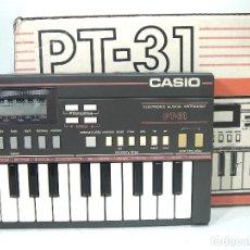 Instrumentos musicales: DIFICIL TECLADO ELECTRONICO - CASIO PT-31 ¡¡FUNCIONANDO¡¡ - JAPAN 80S -PT31 - PIANO ORGANO. Lote 222540492