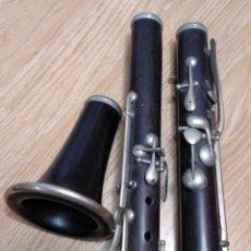 Instrumentos musicales: CLARINETE ANTIGUO DE MADERA. Lote 172657198