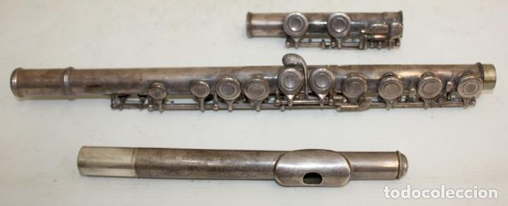 Instrumentos musicales: FLAUTA TRAVESERA DE LA MARCA ARTLEY REALIZADA EN PLATA Y METAL PLATEADO - Foto 2 - 172810958