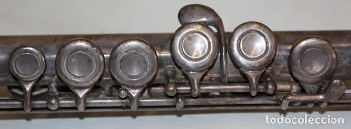 Instrumentos musicales: FLAUTA TRAVESERA DE LA MARCA ARTLEY REALIZADA EN PLATA Y METAL PLATEADO - Foto 6 - 172810958