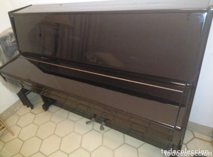 Instrumentos musicales: Piano vertical de pared Cherny lacado negro 1985, muy buen estado. Con sordina - Foto 7 - 172862078