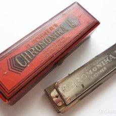 Instrumentos Musicais: ARMONICA HOHNER CHROMONIKA II - 15,5 X 3,7 CM. - AÑOS 50 - 12 AGUJEROS Y CAMBIO. Lote 172908567