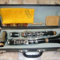 Instrumentos musicales: ANTIGUO CLARINETE DE ÉBANO SI. Lote 173258033
