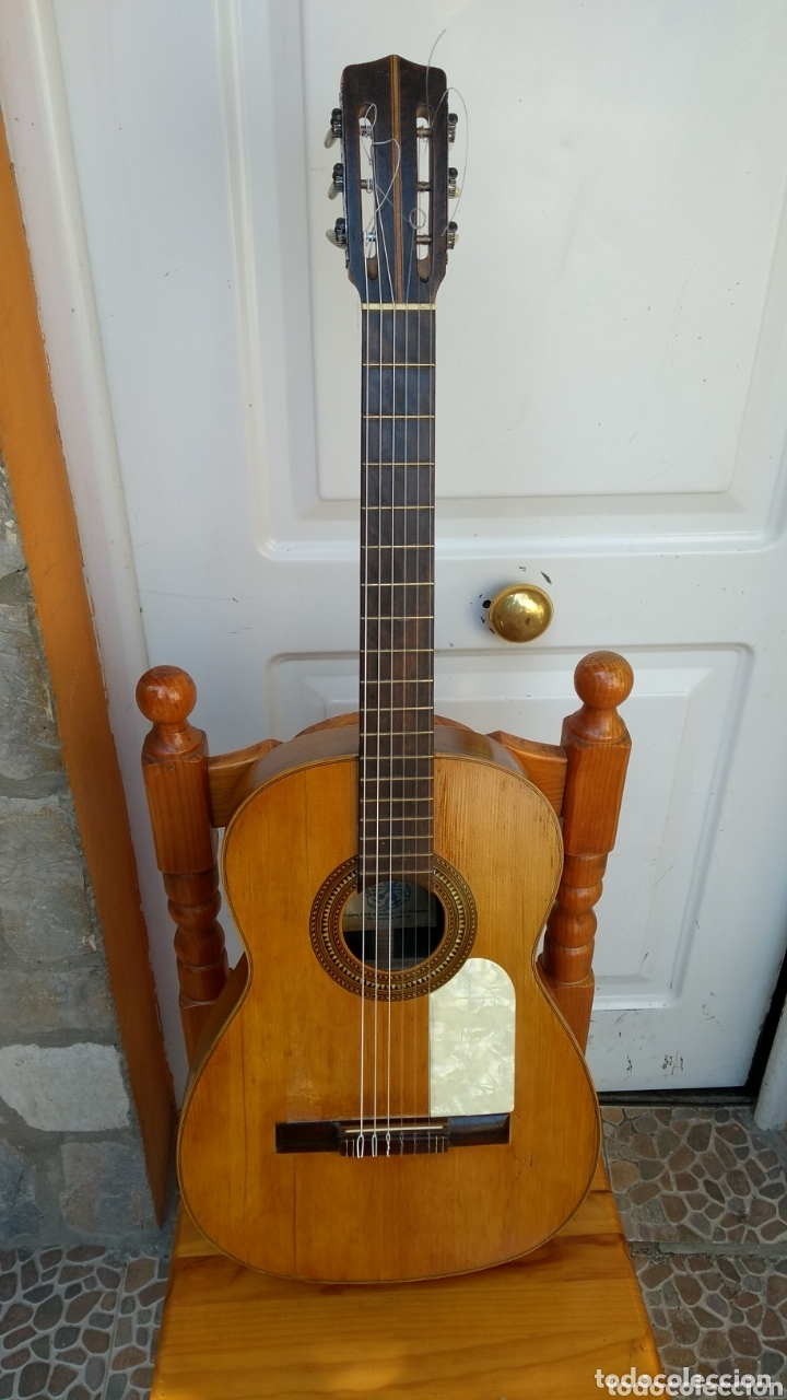 RICARDO SANCHÍS GUITARRA ANTIGUA LEER ANTES DE COMPRAR (Música - Instrumentos Musicales - Guitarras Antiguas)