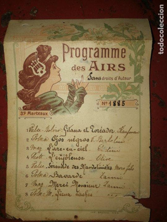 Instrumentos musicales: RODILLO DE PÚAS PARA PIANOLA O CAJA DE MÚSICA - Foto 16 - 173641042