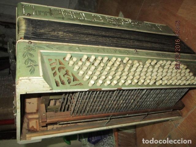 Instrumentos musicales: SELL FILARMONICA ACORDEON ANTIGUA PAOLO SOPRANI E FIGLI CASTELFIDARDO ITALIA CON PIEDRAS PEGADAS - Foto 26 - 191168920