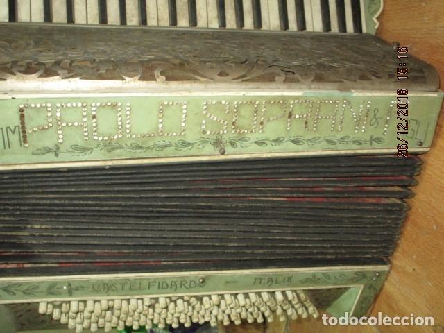 Instrumentos musicales: SELL FILARMONICA ACORDEON ANTIGUA PAOLO SOPRANI E FIGLI CASTELFIDARDO ITALIA CON PIEDRAS PEGADAS - Foto 11 - 191168920