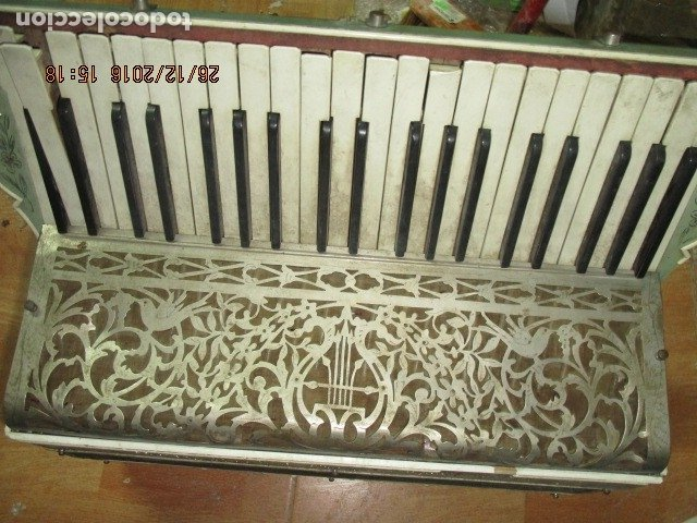 SELL FILARMONICA ACORDEON ANTIGUA PAOLO SOPRANI E FIGLI CASTELFIDARDO ITALIA CON PIEDRAS PEGADAS (Música - Instrumentos Musicales - Accesorios)