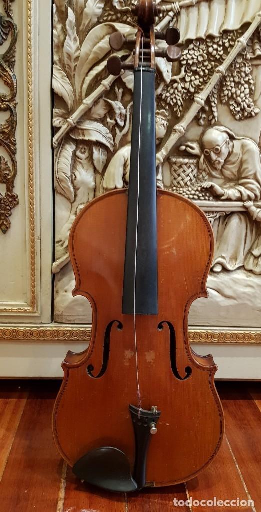 Instrumentos musicales: Violín fabricado en Alemania 1880-1900 - Foto 3 - 174141877