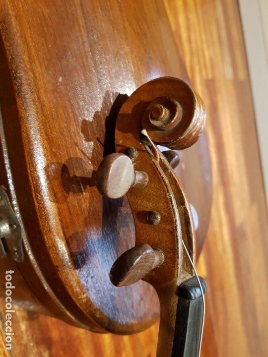 Instrumentos musicales: Violín fabricado en Alemania 1880-1900 - Foto 13 - 174141877