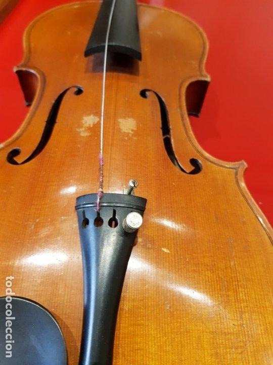 Instrumentos musicales: Violín fabricado en Alemania 1880-1900 - Foto 6 - 174141877