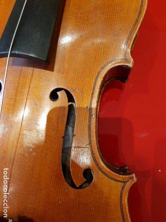 Instrumentos musicales: Violín fabricado en Alemania 1880-1900 - Foto 7 - 174141877