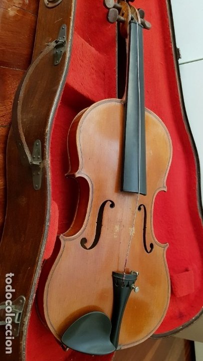 Instrumentos musicales: Violín fabricado en Alemania 1880-1900 - Foto 11 - 174141877
