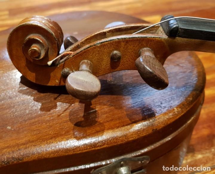 Instrumentos musicales: Violín fabricado en Alemania 1880-1900 - Foto 12 - 174141877