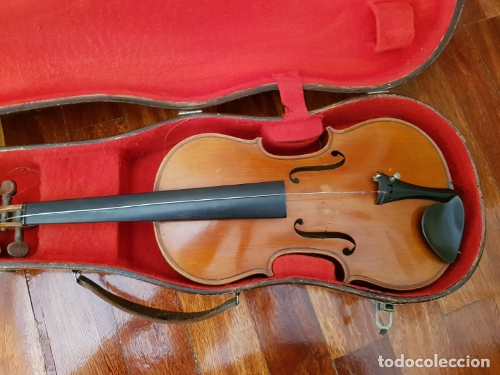 Instrumentos musicales: Violín fabricado en Alemania 1880-1900 - Foto 35 - 174141877