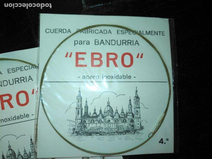 Instrumentos musicales: ANTIGUA CUERDA DE BANDURRIA ACERO inoxidable marca ebro 4ª NOTA O CUERDA - Foto 2 - 175321775
