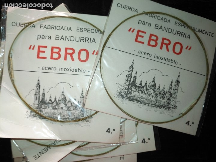 ANTIGUA CUERDA DE BANDURRIA ACERO INOXIDABLE MARCA EBRO 4ª NOTA O CUERDA (Música - Instrumentos Musicales - Cuerda Antiguos)