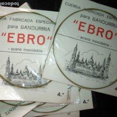 Instrumentos musicales: ANTIGUA CUERDA DE BANDURRIA ACERO INOXIDABLE MARCA EBRO 4ª NOTA O CUERDA. Lote 175321775