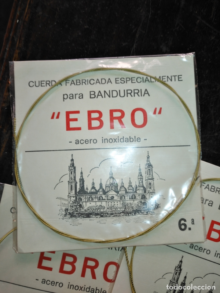 Instrumentos musicales: ANTIGUA CUERDA DE BANDURRIA ACERO inoxidable marca ebro 6ª NOTA O CUERDA - Foto 2 - 175322230