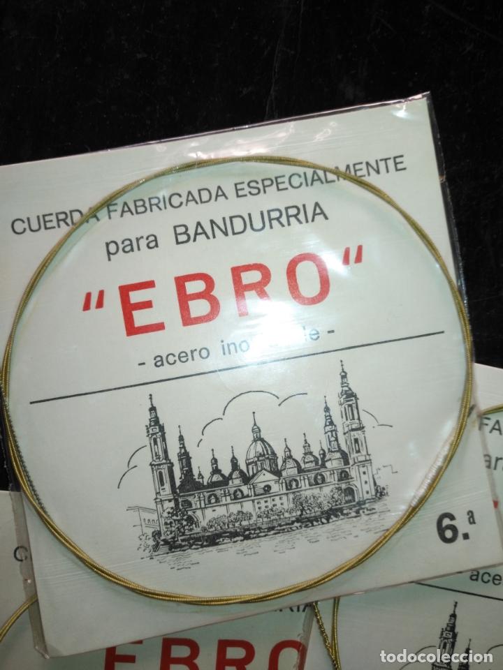 Instrumentos musicales: ANTIGUA CUERDA DE BANDURRIA ACERO inoxidable marca ebro 6ª NOTA O CUERDA - Foto 3 - 175322230