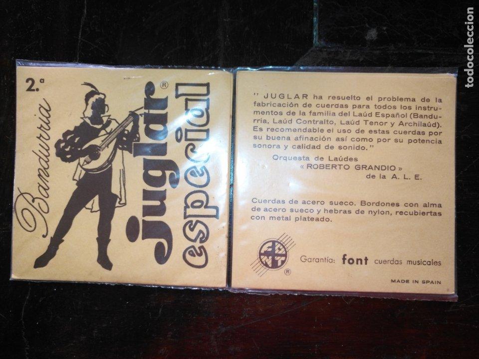 ANTIGUA CUERDA DE BANDURRIA JUGLAR ESPECIAL FONT CUERDAS MUSICALES 2ª (Música - Instrumentos Musicales - Cuerda Antiguos)