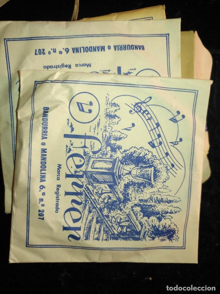 Instrumentos musicales: ANTIGUA CUERDA DE BANDURRIA O MANDOLINA 6ª NOTA O POSICION N.º 207 FERRER - Foto 2 - 175323455