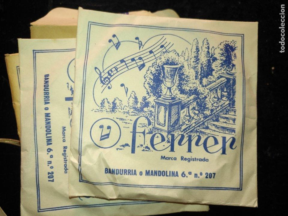 Instrumentos musicales: ANTIGUA CUERDA DE BANDURRIA O MANDOLINA 6ª NOTA O POSICION N.º 207 FERRER - Foto 2 - 175323493