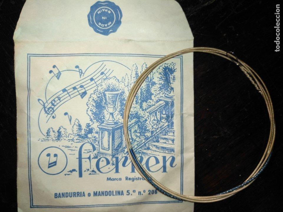 Instrumentos musicales: ANTIGUA CUERDA DE BANDURRIA O MANDOLINA 5ª NOTA O POSICION N.º 206 FERRER - Foto 2 - 175323762