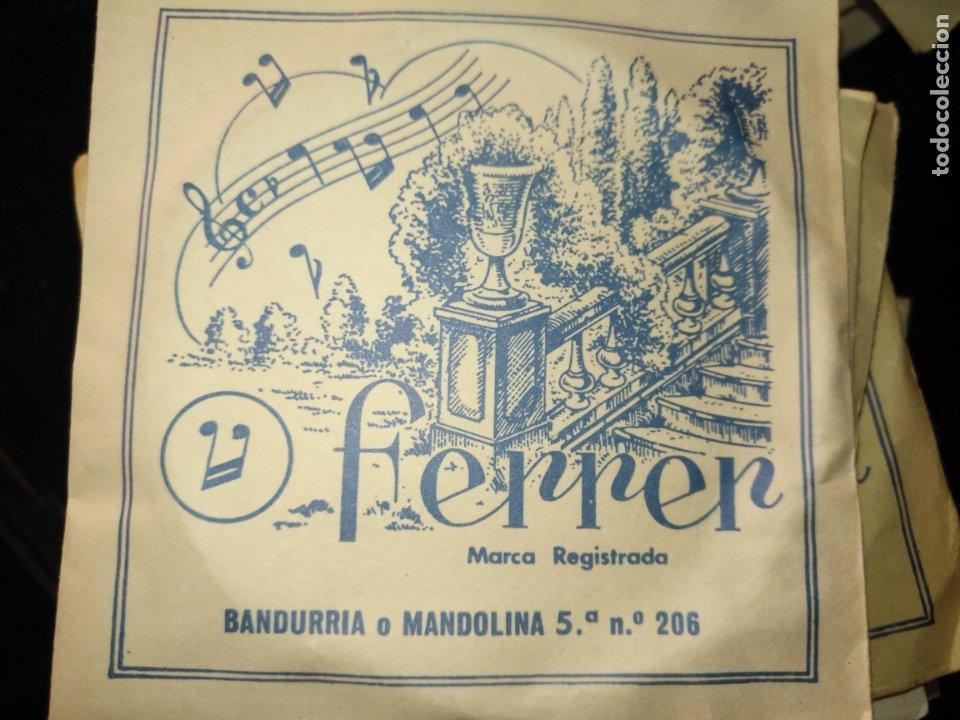Instrumentos musicales: ANTIGUA CUERDA DE BANDURRIA O MANDOLINA 5ª NOTA O POSICION N.º 206 FERRER - Foto 3 - 175323762