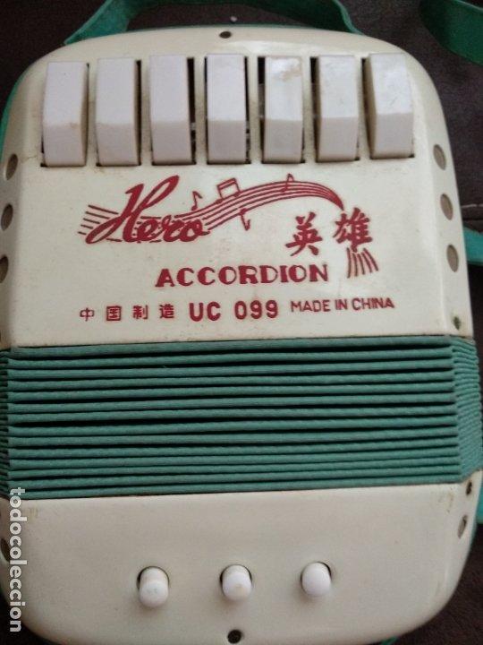 ANTIGUO JUGUETE ACORDEON DE LA MARCA HERO UC 099 (Música - Instrumentos Musicales - Viento Madera)