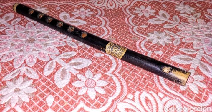 EXTRAORDINARIA Y MUY ANTIGUA FLAUTA DE INDIA, BENGAL FLUTE CALCUTA G.DAS // FLAUTA BENGALÍ (Música - Instrumentos Musicales - Viento Madera)