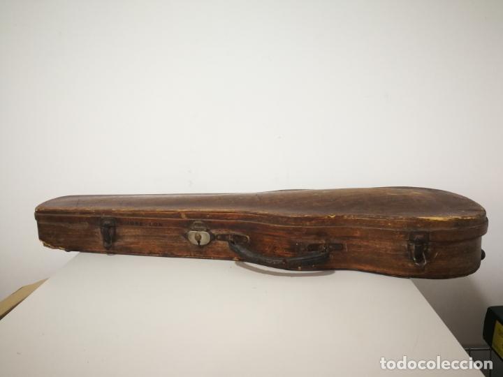Instrumentos musicales: ANTIGUO ESTUCHE DE MADERA PARA VIOLIN - Foto 4 - 226833055