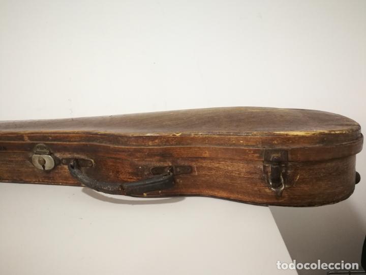 Instrumentos musicales: ANTIGUO ESTUCHE DE MADERA PARA VIOLIN - Foto 6 - 226833055