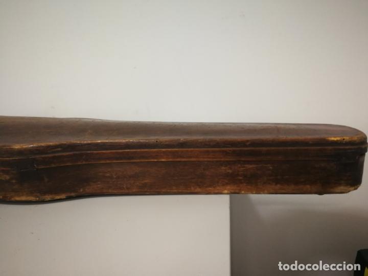 Instrumentos musicales: ANTIGUO ESTUCHE DE MADERA PARA VIOLIN - Foto 12 - 226833055