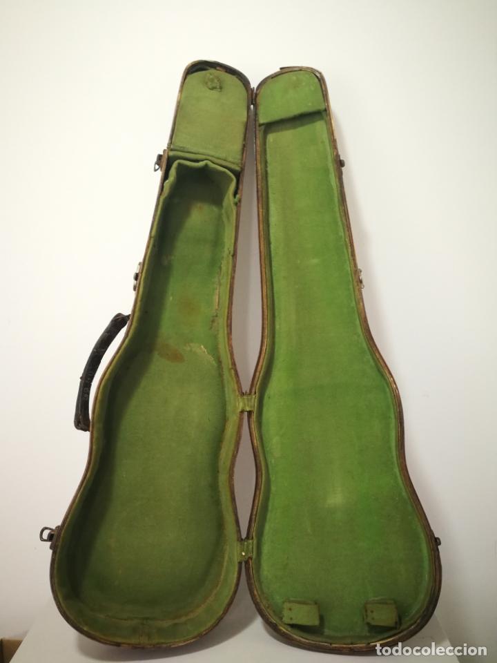 Instrumentos musicales: ANTIGUO ESTUCHE DE MADERA PARA VIOLIN - Foto 16 - 226833055