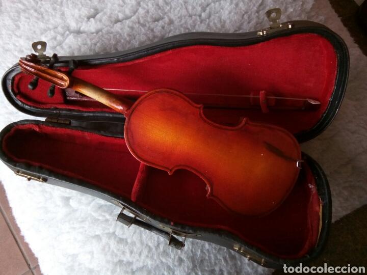Instrumentos musicales: Violín miniatura decorativo - Foto 2 - 175711663
