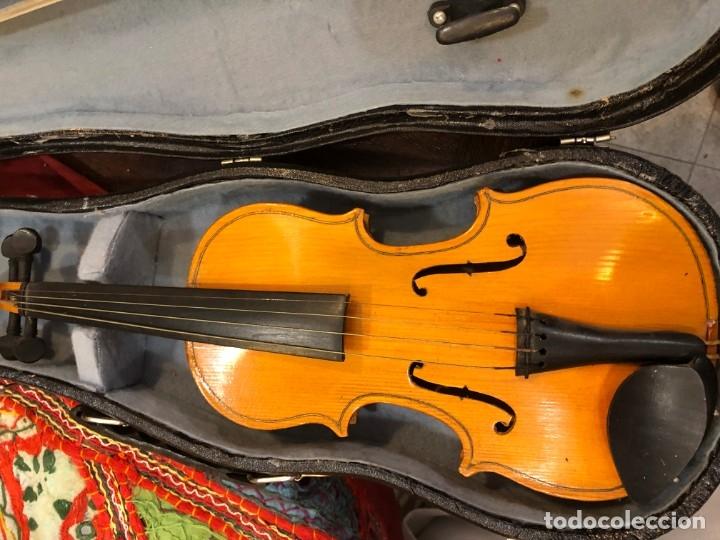 Instrumentos musicales: PRECIOSO VIOLIN MINIATURA EN SU CAJA - Foto 2 - 175789113