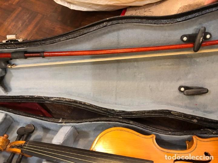 Instrumentos musicales: PRECIOSO VIOLIN MINIATURA EN SU CAJA - Foto 4 - 175789113