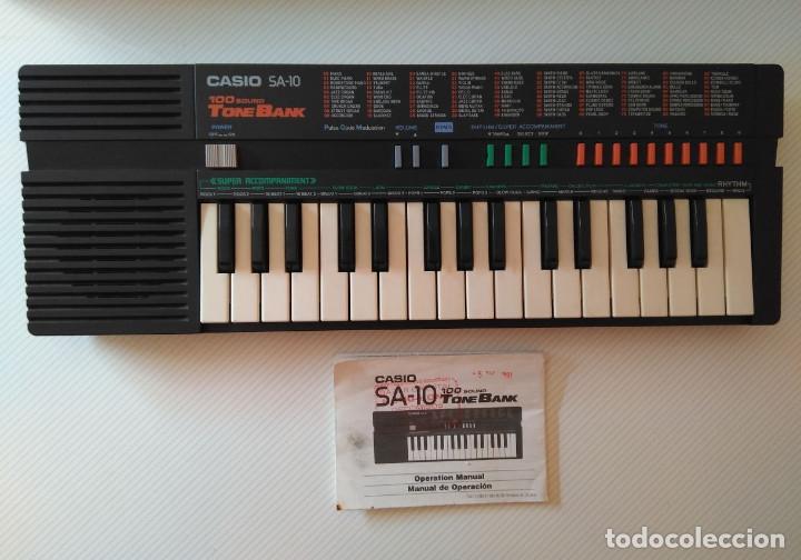 ORGANO PIANO CASIO SA10 TONE BANK - CON INSTRUCCIONES (Música - Instrumentos Musicales - Pianos Antiguos)