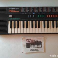 Instrumentos musicales: ORGANO PIANO CASIO SA10 TONE BANK - CON INSTRUCCIONES. Lote 176302797
