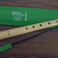 Instrumentos musicales: FLAUTA DULCE ESCOLAR HOHNER MELODY BLOCKFLOTE, CON FUNDA Y ACCESORIO LIMPIADOR. Lote 177755394